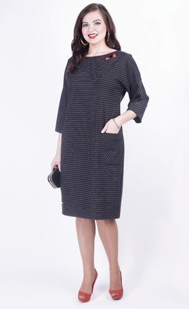 portrait of modern business woman in casual dress .plus size.