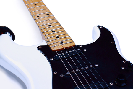 Electric guitar isolated on white background Stock Photo