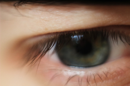 close up. modern guys eye. the concept of perspectives.