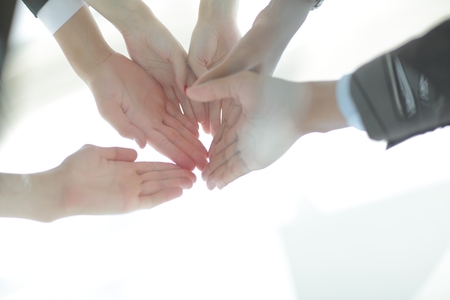 Join Hands Support Partnership,Together and trust Concept Stock Photo