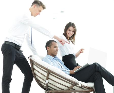 regular customer and employees in a modern office Reklamní fotografie