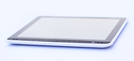 close up. tablet computer isolated on white background