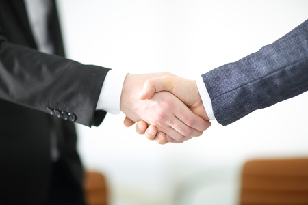 close up.handshake of business partners in the office