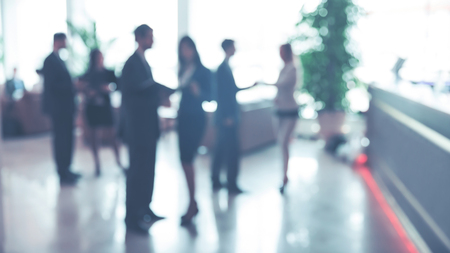 Blurred background : employees work in the lobby, spacious office Banco de Imagens - 117231786