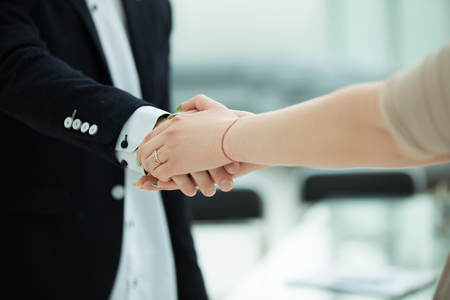 close up. business handshake of commercial partners