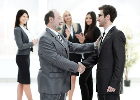meeting of business people in the office.business handshake.