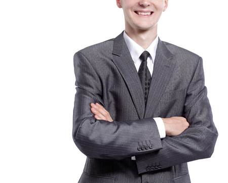 portrait of a young businessman. isolated on white