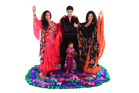 Gypsy ensemble of song and dance Stock Photo