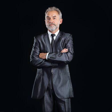 in full growth.portrait of a senior businessman.