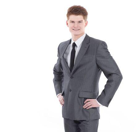 in volle groei.portret van een jonge professional Stockfoto