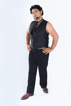 stylish man dancer posing for the camera