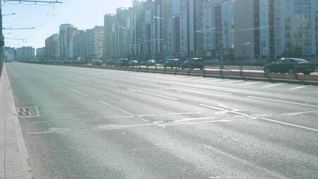 empty wide road in a modern city Foto de archivo - 129921288