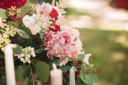 close up. beautiful wedding bouquet of flowers