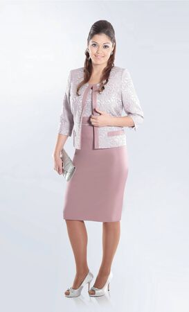 in full growth. elegant woman in a stylish business suit