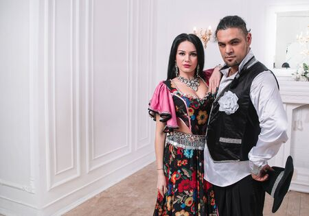 portrait of a beautiful Gypsy couple. photo with space for text Stock fotó