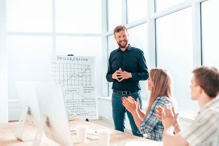 businessman analyzing financial data during work meeting
