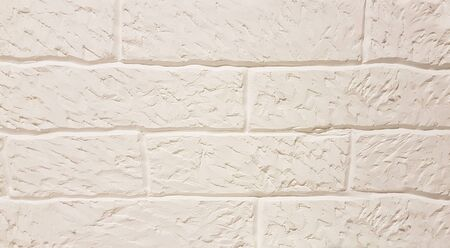 close up. old white brick wall. background and texture Stok Fotoğraf