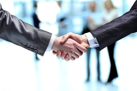 The businessman. Hand for a handshake. The conclusion of the transaction. Foto de archivo