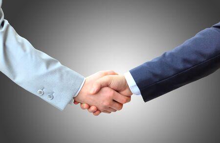 Geschäftsleute Händeschütteln, Beenden einer Besprechung Standard-Bild