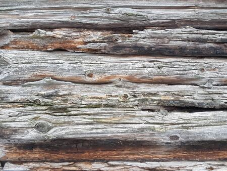 close up. a fragment of a wooden wall . background and texture