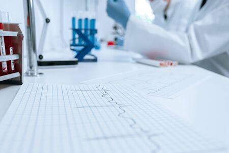 close up. desktop in the scientific laboratory. Фото со стока
