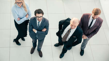 top view. group of leading specialists standing in the office. 版權商用圖片