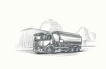Euro Truck Cistern illustration.