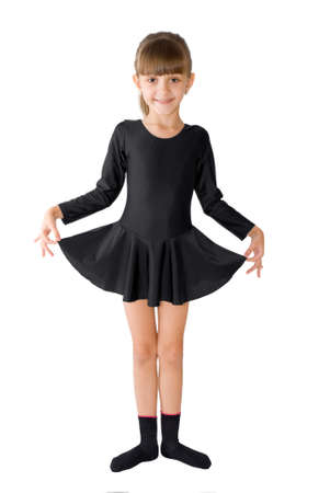 The small dancer in a black dress
