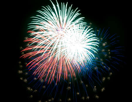 salut: Colourful fireworks in the night sky