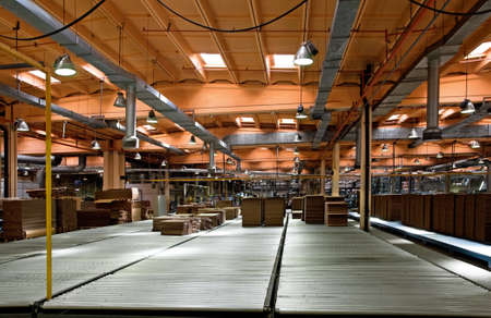 millboard: Workshop of a factory on manufacture of a corrugated cardboard Editorial