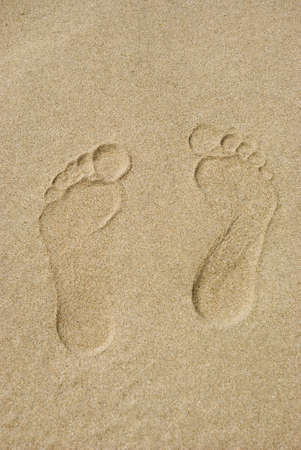 foots: Traces of barefooted foots on sand