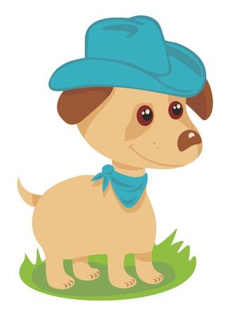 Cowboy Puppy Stock Vector - 11871599