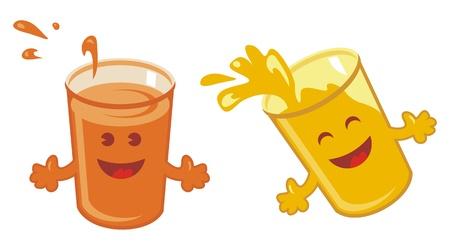 orange juice glass: Felice Set Succo d'arancia