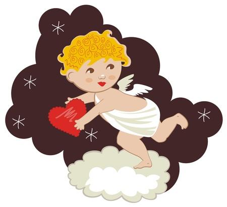 Cute Cupid Stock Vector - 12214126