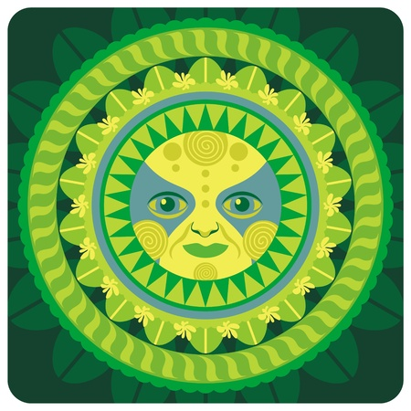 vernal: Concentric decorative vernal sun Illustration