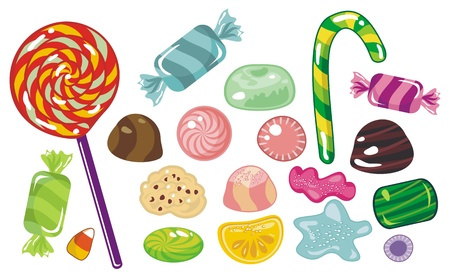 Various sweets and candies Vector