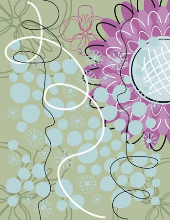 Greeting card background with floral elements Vector