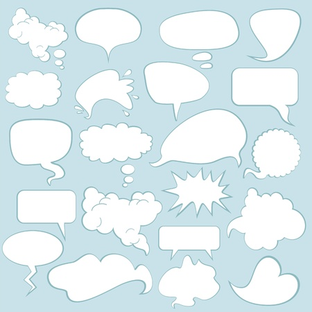 dialog balloon: Various comics speech balloons and bubbles set