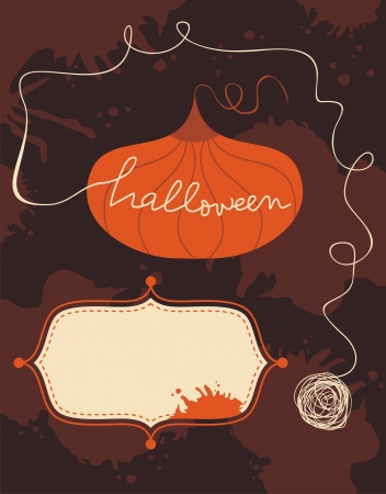 nocturne: Halloween background with space for text Illustration