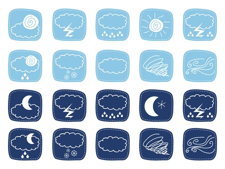 Weather icons set with various atmospheric phenomena Stock Vector - 14033816