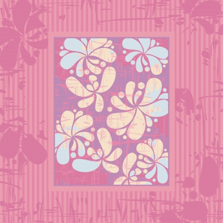 Greeting card decorative background with floral elements Vector