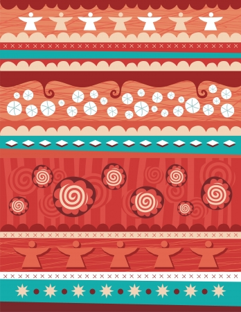 Seasonal Christmas background with abstract and decorative elements Vector