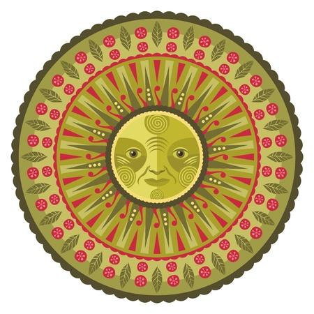 rebirth: Concentric decorative spring mandala