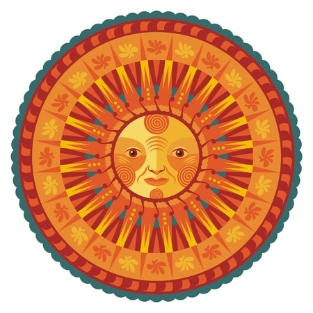 solstice: Concentric decorative summer mandala
