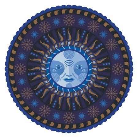 Concentric decorative winter mandala Stock Vector - 15923695
