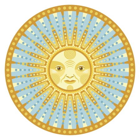 Concentric decorative mandala of the sun Stock Vector - 15923703