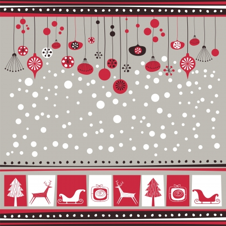 Winter background with decorative seasonal elements Vector