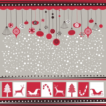 christmas spirit: Winter background with decorative seasonal elements