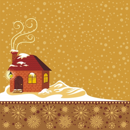 Winter decorative background with space for text Stock Vector - 16332787
