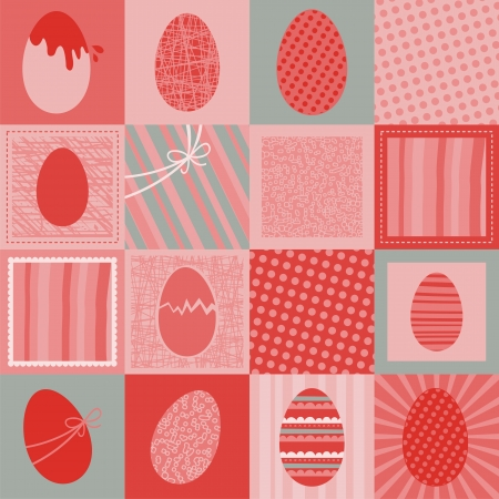 Easter decorative seamless retro pattern or background Stock Vector - 16688699